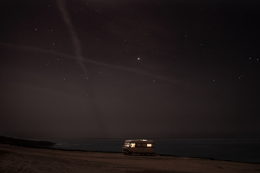 A van in the sea 11